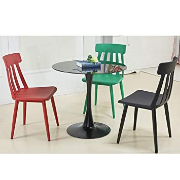 Amazon.com: LIFUREN Bar Chair Simple Dining Chair Plastic ...