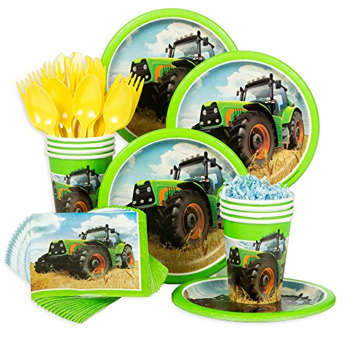 Tractor Time Birthday Standard Tableware Kit (Serves 8)