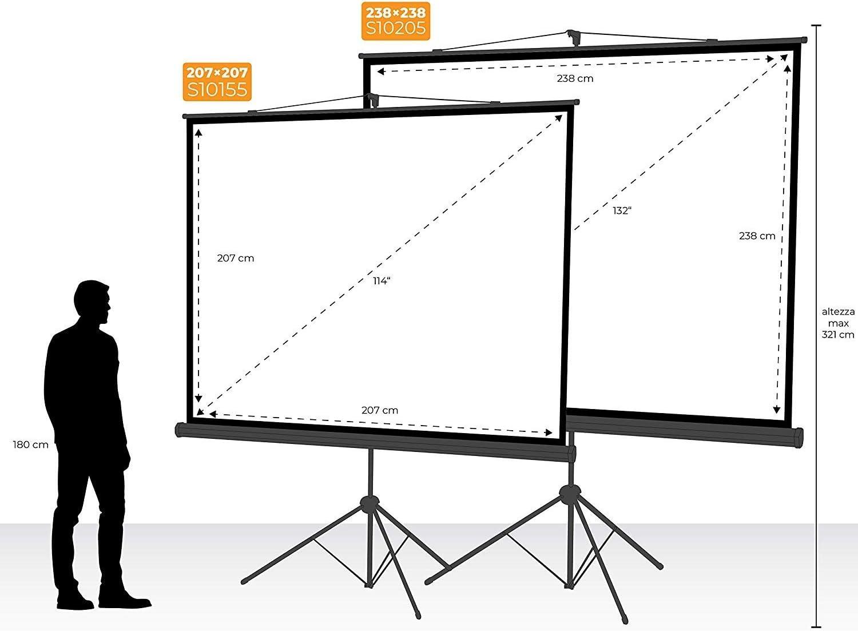 Provis - Pantalla proyector 132 Pulgadas 238 x 238 cm: Amazon.es ...