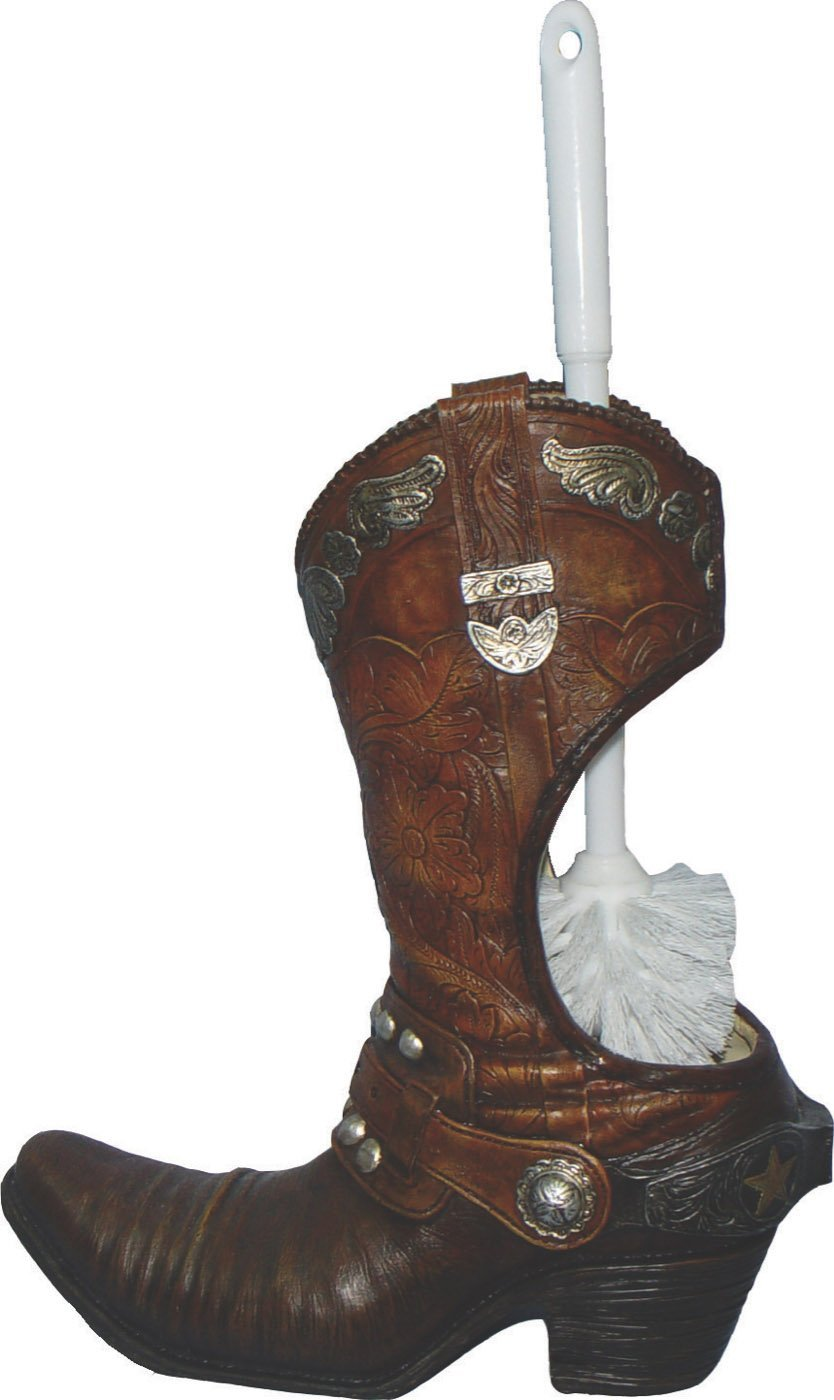 Rivers Edge Products Cowboy Boot Toilet Brush Holder 473