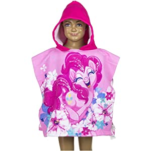 My Little Pony Kids Hooded Poncho Towel (Dark Pink)