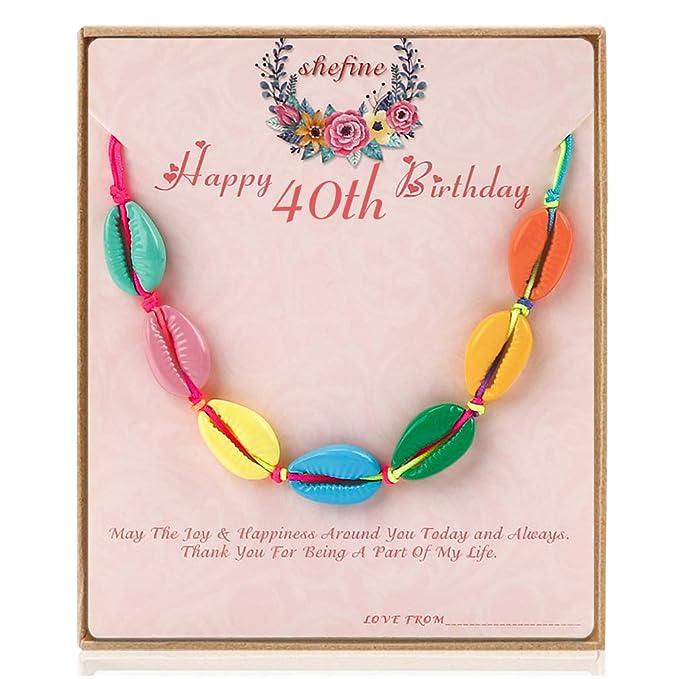 Amazon.com: Pulsera de concha para mujer, regalo de 40 años ...