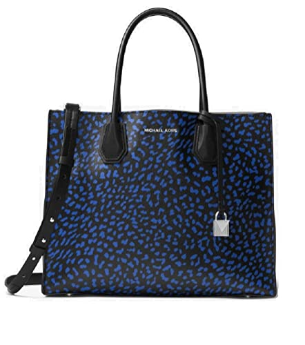 84ad98f84f97 Amazon.com  MICHAEL Michael Kors Mercer Large Leopard Leather Tote Bag