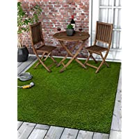 Well Woven Super Lawn Artificial Grass Rug 3 x 5 (311 x 53) Indoor/Outdoor Carpet Synthetic Turf Fade Resistant Easy Care