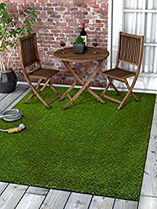 Amazon Com Well Woven Super Lawn Artificial Grass Rug Indoor