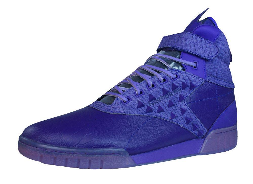 Reebok Classic Exo Fit Hi Clean PM Int Herren-Leder-Sneaker  41 EU|Purple/Purple