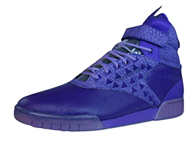 1db41a26bef2b2 Reebok Classic Exo Fit Hi Clean PM Int Mens Leather Sneakers-Purple-8.5