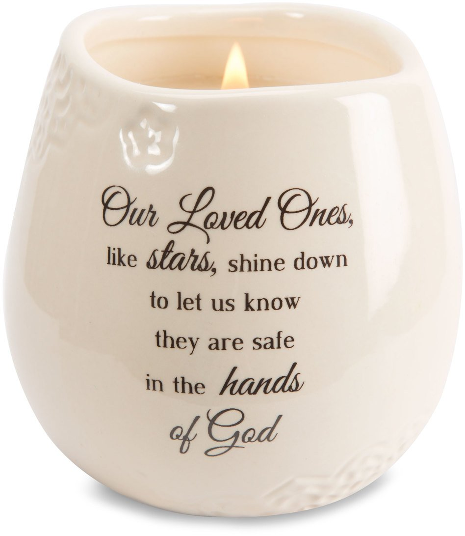 Light Your Way Memorial 19175 in Memory Loved Ones Shine Ceramic Soy Wax Candle by Light Your Way Memorial