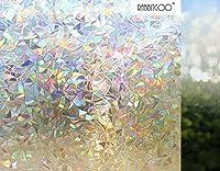 Rabbitgoo 3d No Glue Static Decorative Privacy Window Films for Glass Self Adhesive Heat Control Anti Uv by Globegou Co., Ltd