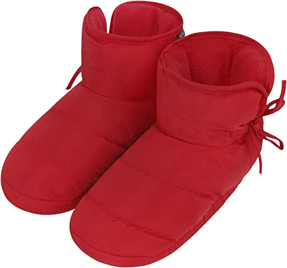 Details about  /UnisexInsulated Down Slippers Snow Ankle BootsWinter Thick Warm Plush Lining H