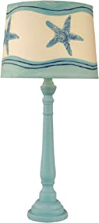 product image for Coast Lamp Weathered Turquoise Sea Round Buffet lamp with Starfish Shade