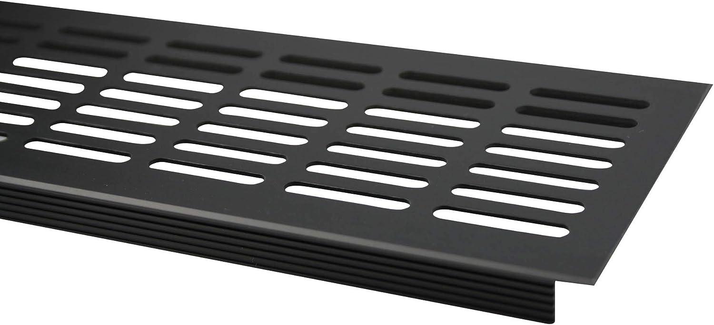 Aluminium L/üftungsgitter Stegblech L/üftung 100mm x 1000mm in verschiedenen Farben Braun eloxiert