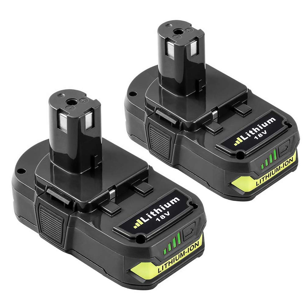 Topbatt Replace for Ryobi 18V 3.0Ah Battery Lithium ion ONE+ Plus P102 P103 P104 P105 P107 P108 P109 P122 Cordless Power Tools 2-Pack by Topbatt