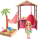 Barbie Chelsea Doll and Tiki Hut Playset with...