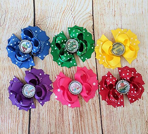 c314504487e82 Amazon.com: Back to School Hair Bow Lot, School Hair Bows, set of 6 ...
