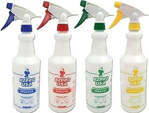 EZPRO USA Mix Empty Spray Bottles 16 oz for Cleaning Solutions, Squirt Bottles for Cleaning, Spray Bottle, Squirt Bottle, 4 Pack