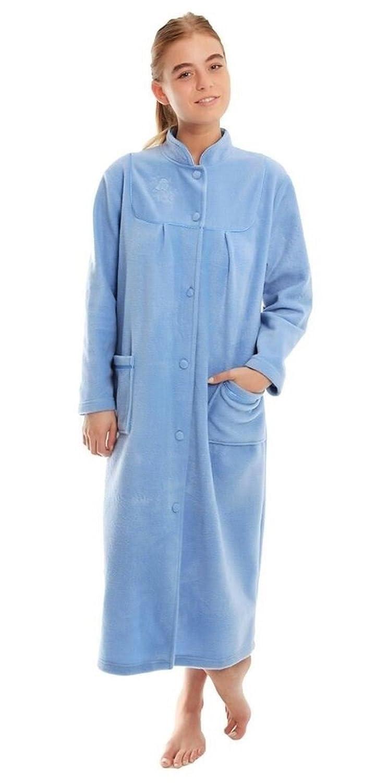 fdc1bea64b ladies fleece dressing gown bathrobe housecoat size 10 12 14 16 18 20 22 24  at Amazon Women s Clothing store