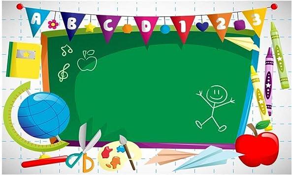 OIFLA Back to School Backdrop 7x5ft School Classroom Photos Background Blackboard Backdrop Kids Back to School Day Photo Shoot School Backdrop Students Background Props