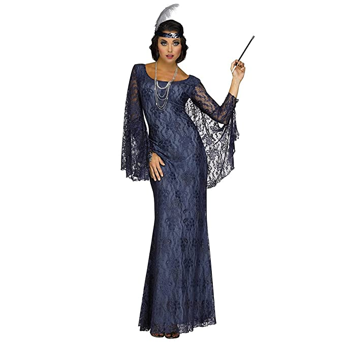 Roaring 20s Costumes- Flapper Costumes, Gangster Costumes Adult Roaring Beauty Flapper Costume $54.11 AT vintagedancer.com