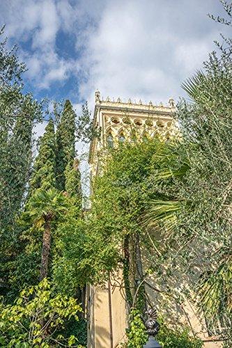 Amazon com: Home Comforts Laminated Poster Tower Isola Del Garda