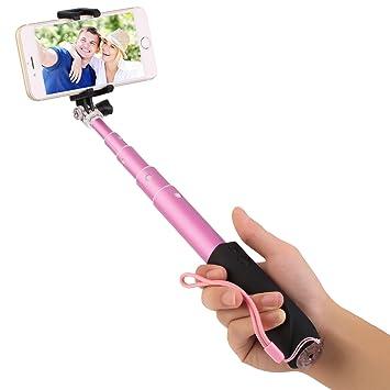 Perche à selfie Télescopique Rose uVgyI