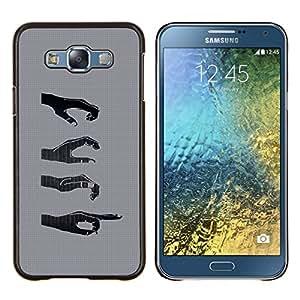 TECHCASE---Cubierta de la caja de protección para la piel dura ** Samsung Galaxy E7 E700 ** --Manos Signos