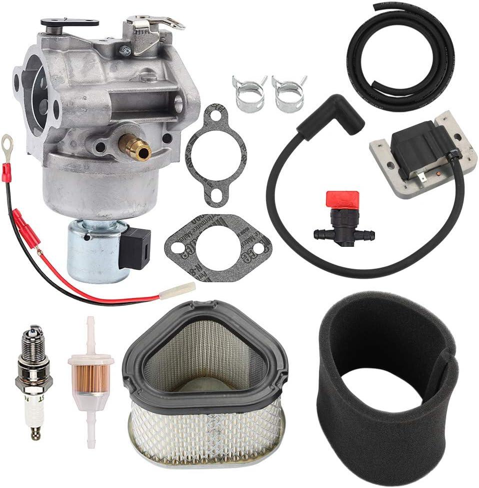 Hayskill 42-853-03S Carburetor w 12-083-05 Air Filter & 20 584 03-S Ignition Coil for Kohler KH-20-853-33-S 20-853-14-S 20-853-16-S 12-853-93-S 1285394S