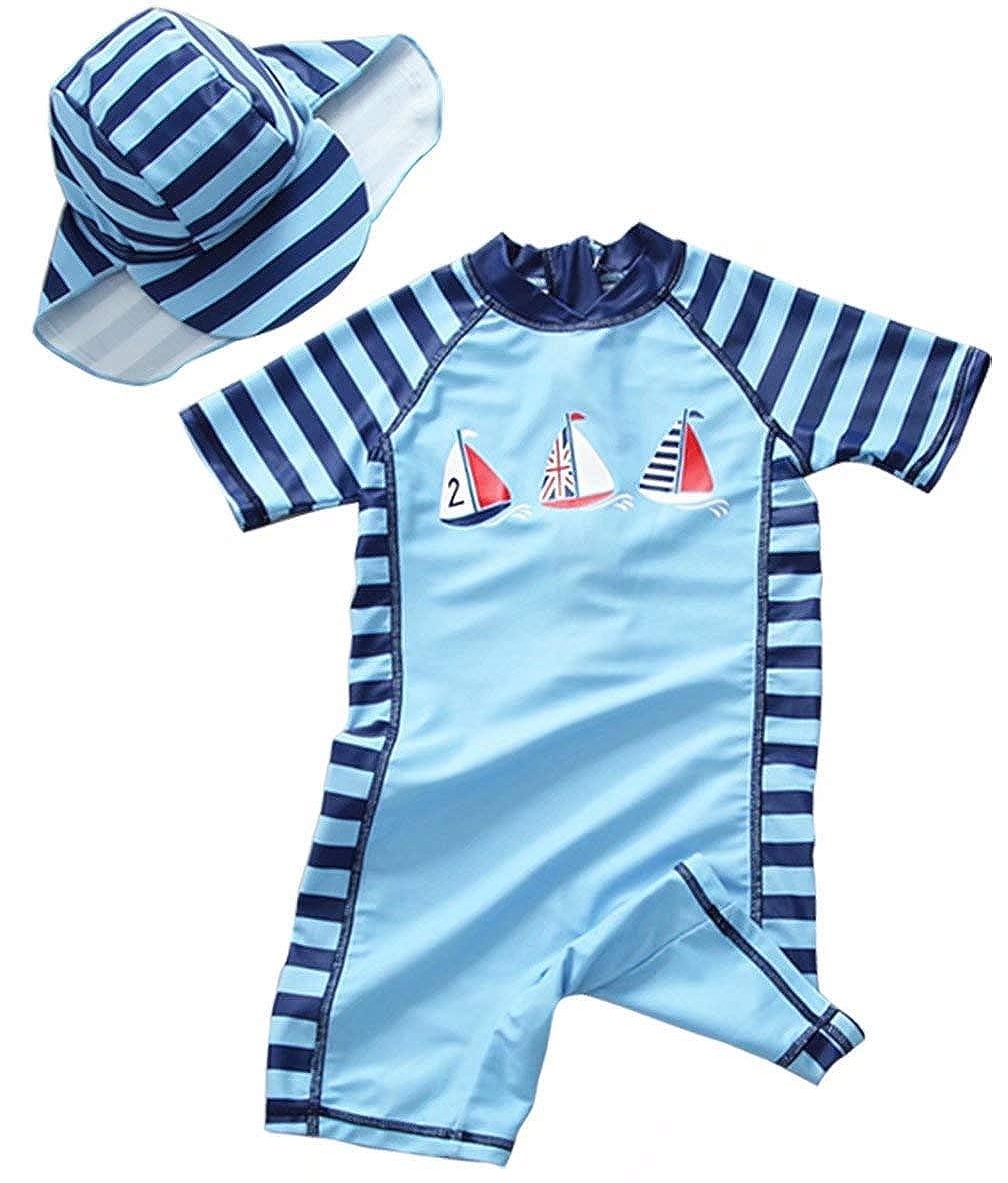 EGELEXY Toddler Swimsuits Baby Boy Swimsuit One-Piece Rash Guard Long Sleeve Bathing Suit Sun UV Protection Swimwear