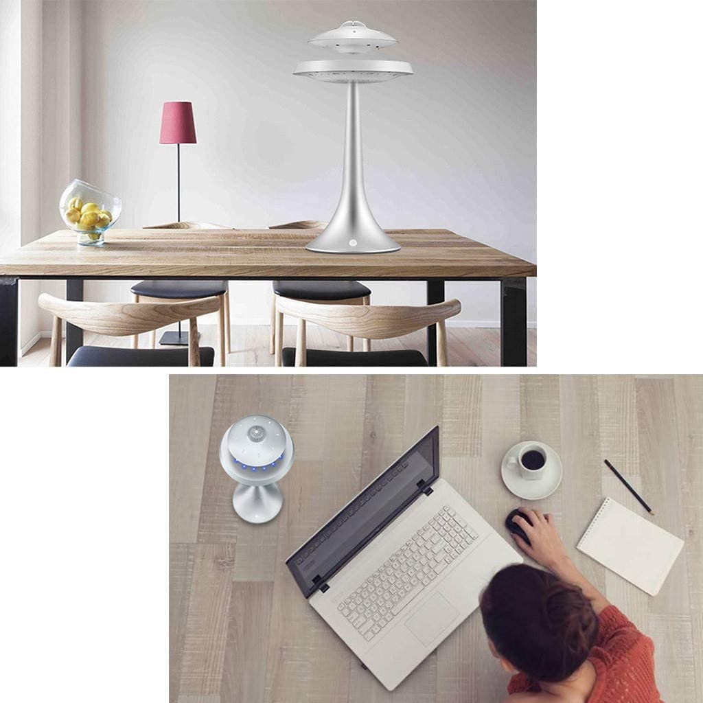 360 Degree Rotation for Home Office Desk Decor Wireless Charging Changeable Modern Night Light Magnetic Floating HQ Bluetooth Speaker