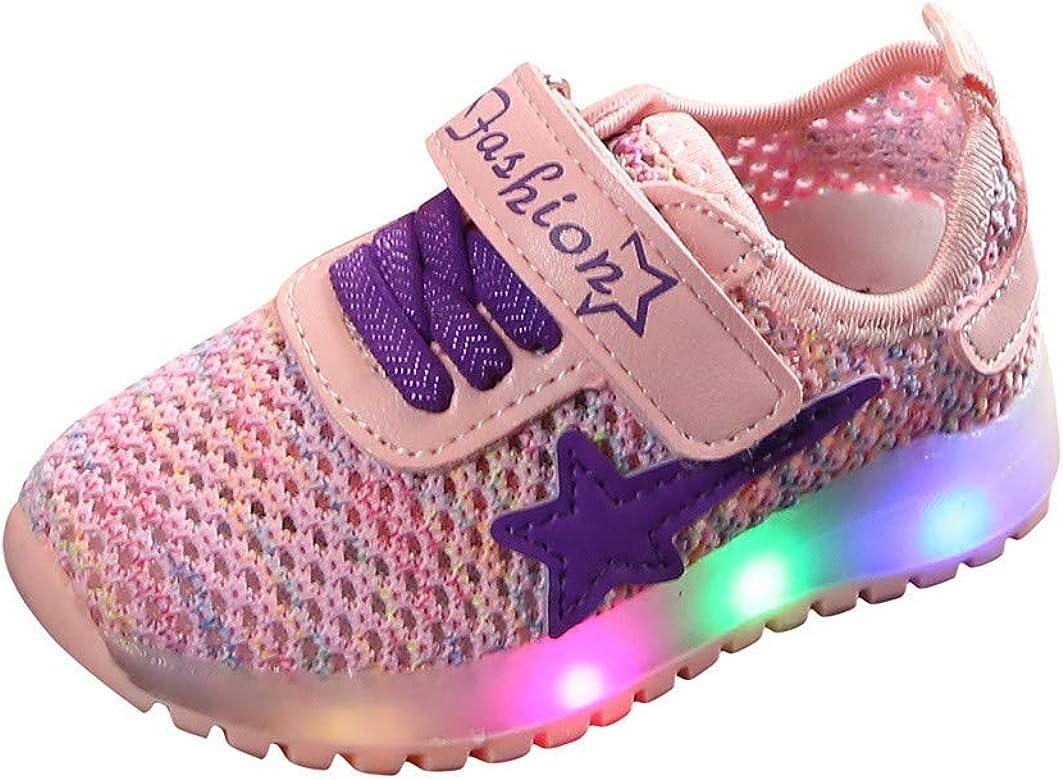 En plein air Igemy Baskets /à LED respirantes pour enfants Chaussures de course Lumineuses et l/ég/ères Pour tout-petits