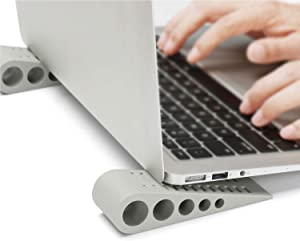 SUPBEE Laptop & Notebook Stands, [4 Pack] Portable Anti-Slip Rubber Elevated Kickstand Holder, Desktop Stable Tilting Wedge & Scratch-Free Ventilated Risers for All Laptop, Notebook, Computer Keyboard