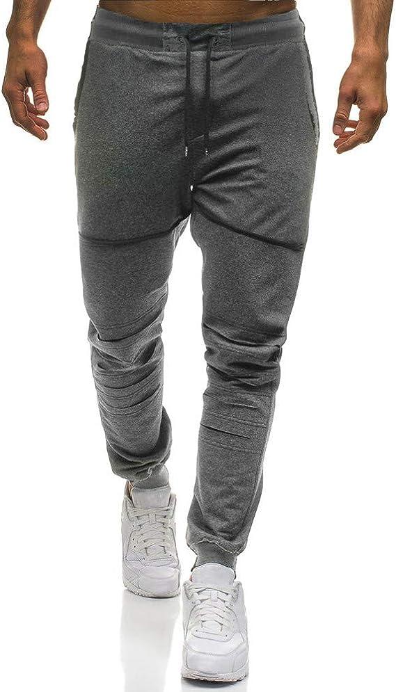 LANSKIRT_Pantalones Pantalones de Deporte Hombre Moda Chandal ...