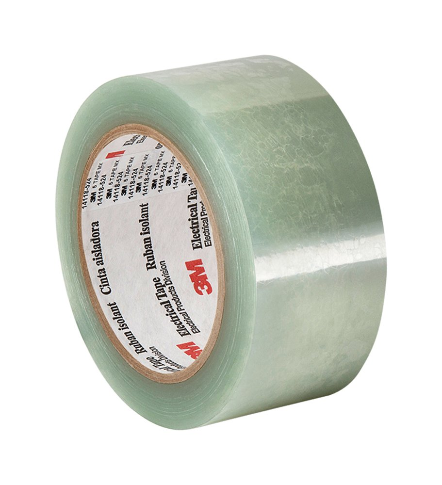 TapeCase 5 Elektrisches Klebeband aus Polyester, transparent, 6,3 cm dick, 182,9 cm lang, 4,4 cm breit 3M 5 1.75 x 72yd