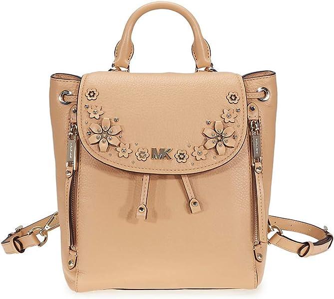 ca0de9cfc378 Amazon.com  Michael Kors Evie Small Flower Studded Backpack ...