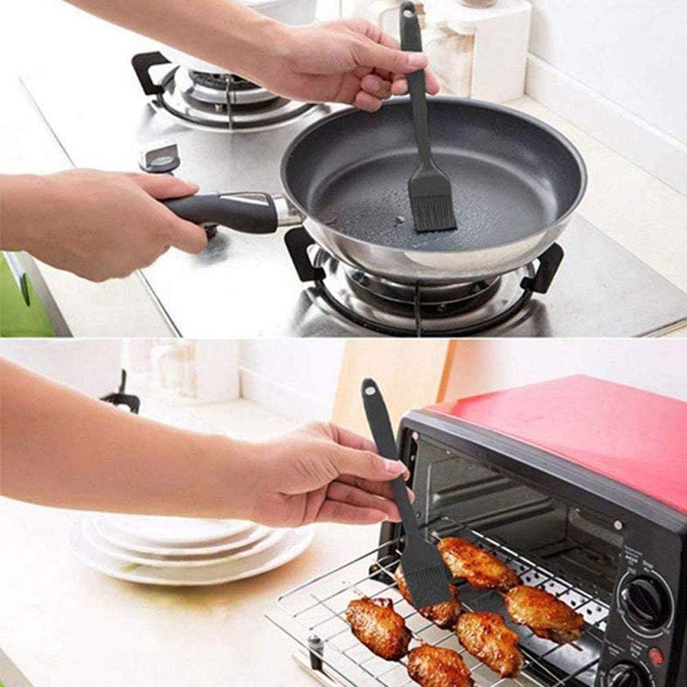 Silikon-Spatel-Set Antihaft-Gummi-Spatel mit Edelstahlkern Backen und Mischen schwarz Hitzebest/ändiges Spatel-K/üchenger/ät zum Kochen