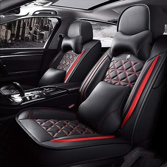 VW Bora-Gris Aspecto Cuero Acolchado Cubiertas de Asiento de Coche-Conjunto Completo