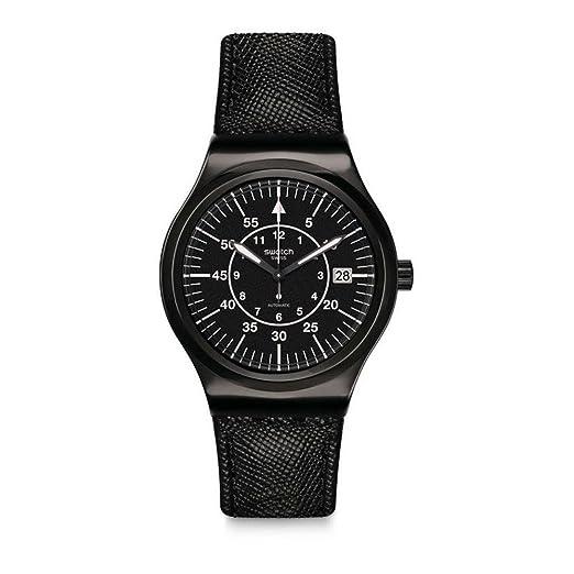 Swatch Reloj Analogico para Hombre de Automático con Correa en Cuero YIB400: Amazon.es: Relojes