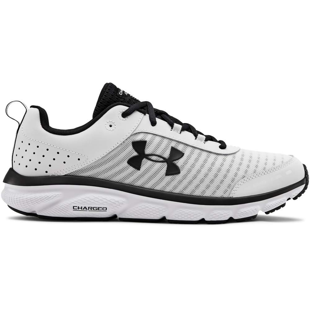 UNDER ARMOUR Men's Charged Assert 8 Running Shoe (102)/White, 8 by Under Armour