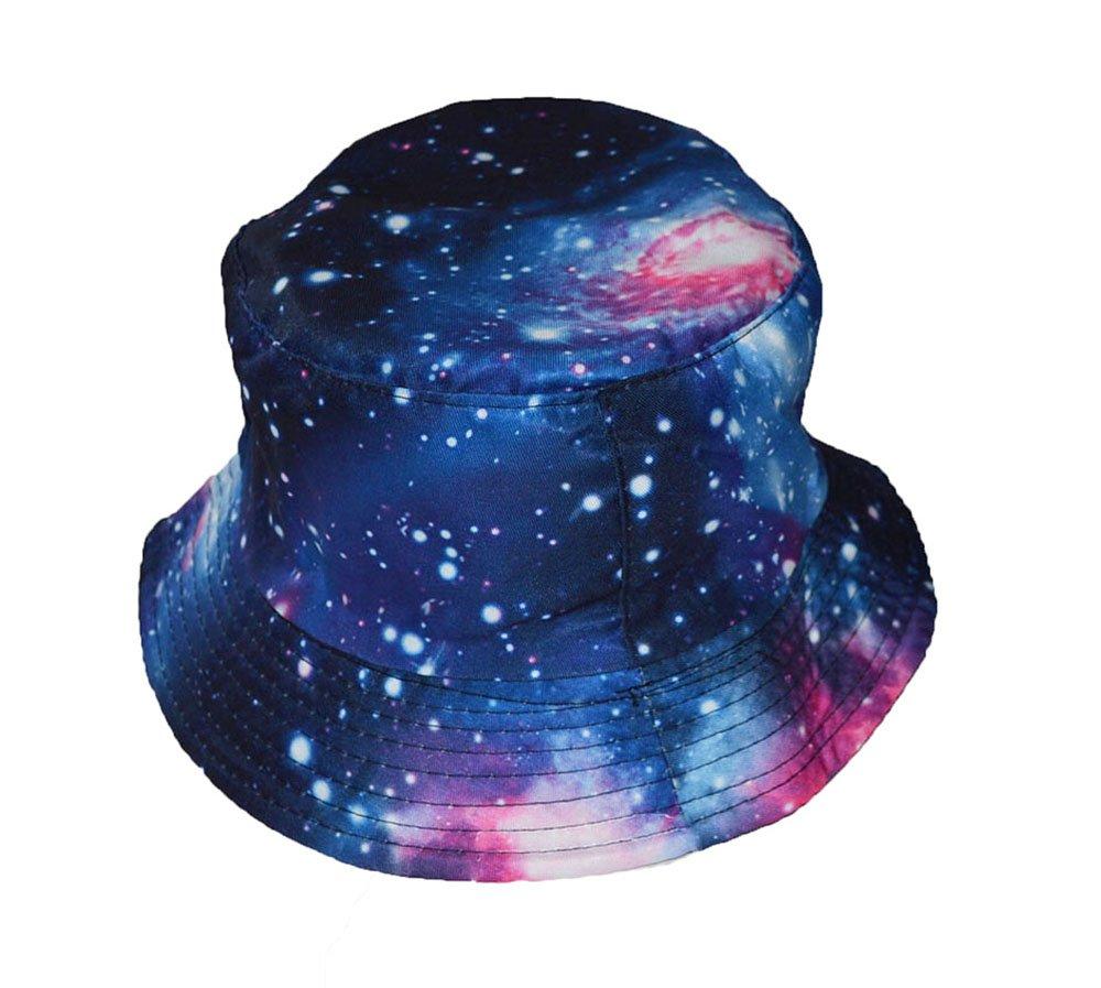 Deep space universe print bucket style sun hat Blue KGM