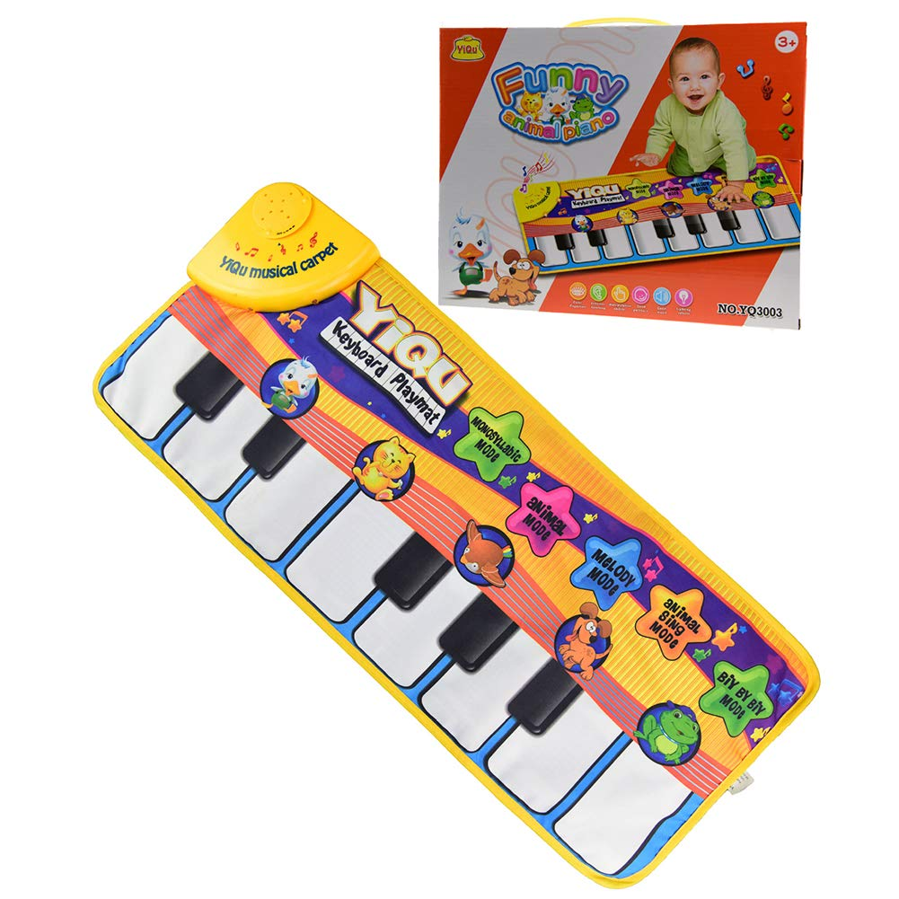 Aoile Kids Baby Musical Piano Play Mat Development Educational Soft Toys Piano Blanket
