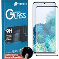 TERSELY Screen Protector for Samsung Galaxy S20 (6.2inch), Full Cover 4D Tempered Glass Screen Protector for Samsung S20 [Support Fingerprint Unlock][Full Coverage][Case-Friendly]- Black