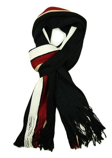 Écharpe de luxe pour homme Motif rayures à foulard en hiver Noir, Gris, bleu 4d48cc6c1c4