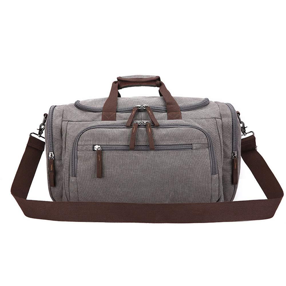 旅行バッグ 旅行ダッフルバッグキャンバス旅行バッグ、学生シングルショルダータックル、前向き差動フィットネス旅行バッグ、大容量旅行キャンバスバッグ スポーツバッグ トラベルバッグ (色 : ベージュ)  ベージュ B07PGP7VPX
