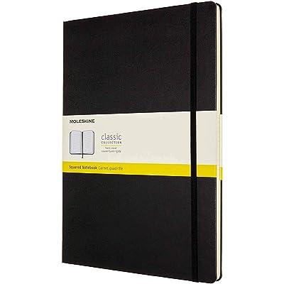Moleskine, Libreta Clásica con Páginas Cuadriculadas, Tapa Dura y Cierre Elástico, Tamaño A4 21 x 29.7 cm, Color Negro, 192 Páginas