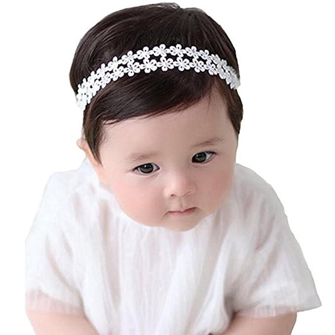 Baby Girl Headband Flower Headband Elastic Hairband Wedding Christening Pretty Baby