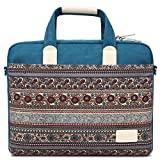 Feisman 13 Inch Laptop Bag with Shoulder Strap, 360° Protective Canvas Laptop Sleeve Case for 13.3 Inch MacBook Air / MacBook Pro Retina / Surface Book / Chromebook / Tablet -Lake Blue