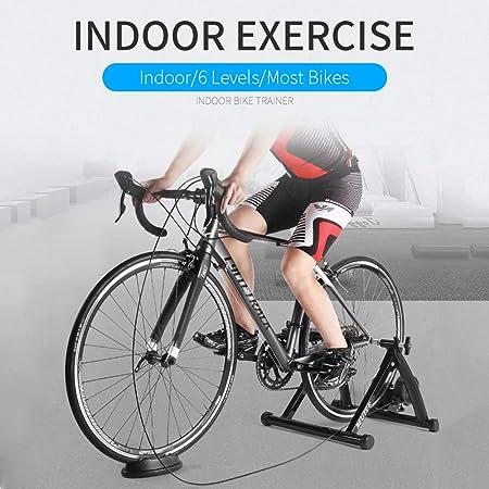QXT Entrenamiento Bicicleta Rodillo, Bicicleta de Acero Premium Bicicleta para Ejercicios en Interiores Bicicleta de Entrenamiento estacionaria Soporte para Entrenadores,Negro: Amazon.es: Hogar