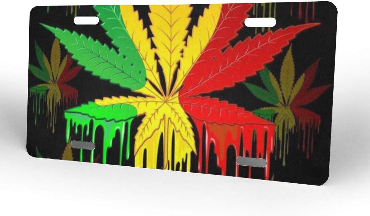 dick Aluminium Marihuana-Bl/ätter hochwertig langlebig 15,2 x 30,5 cm RTBB Nummernschild-Rahmen