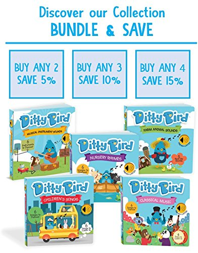 Ditty Bird Our Best Interactive Instrumental Music Book Babies. Educational Toys 1 Year Old. Toddler Musical Book to Learn Musical Instruments. Board Books 1 Year Old. 1 Year Old boy Girl Gifts. by Ditty Bird (Image #6)