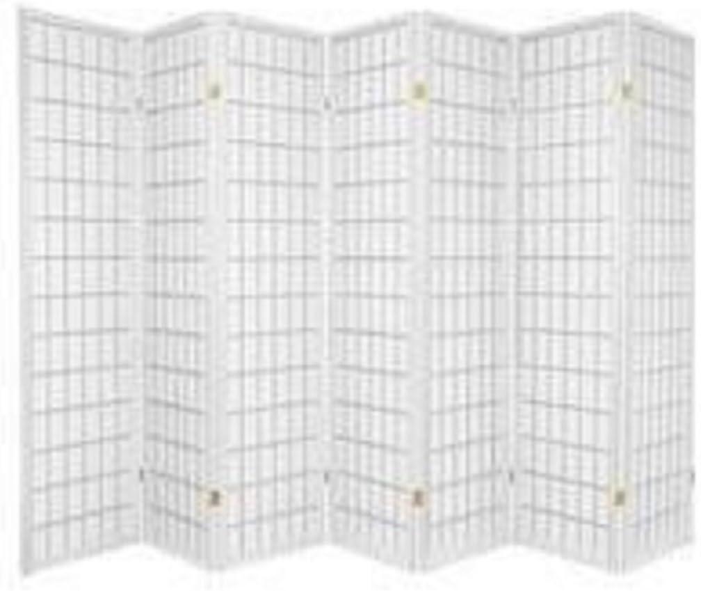 7 Panel Room Divider – White